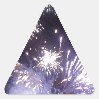 Hogmanay Fireworks Triangle Sticker