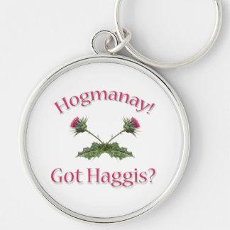 ¡Hogmanay! ¿- Haggis conseguido? Llavero Redondo Plateado