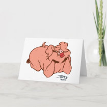 Hogs and Kisses Holiday Card