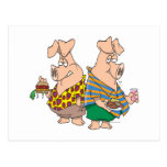 hogs el dibujo animado divertido de los cerdos del postales