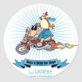 Hogs N Hens for Hope Classic Round Sticker