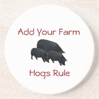 Hogs Rule ...Add your Farm Drink Coaster