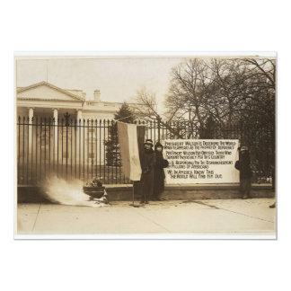 Hoguera del Suffragette de las mujeres en la C.C. Invitación 12,7 X 17,8 Cm