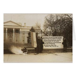 Hoguera del Suffragette de las mujeres en la C.C.  Tarjetas
