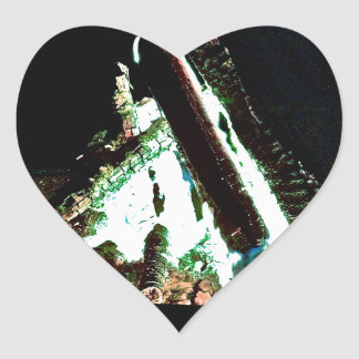 Hoguera Calcomanía De Corazón
