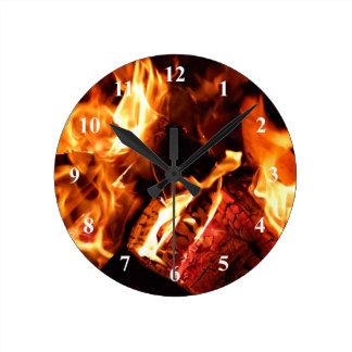 Hoguera Reloj De Pared