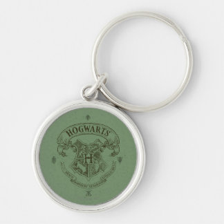 HOGWARTS™ Banner Crest Silver-Colored Round Keychain