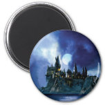 Hogwarts By Moonlight 2 Inch Round Magnet