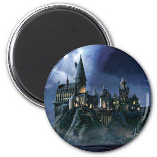 Hogwarts Castle At Night 2 Inch Round Magnet