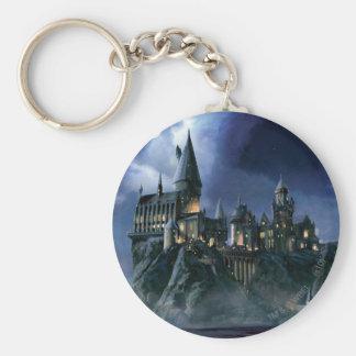 Hogwarts Castle At Night Basic Round Button Keychain