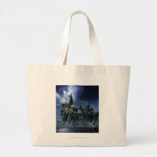 Hogwarts Castle At Night Large Tote Bag