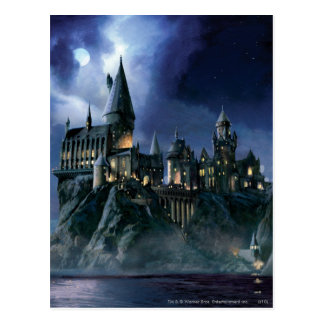 Hogwarts Castle At Night Post Card