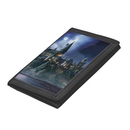 Hogwarts Castle At Night Trifold Wallets