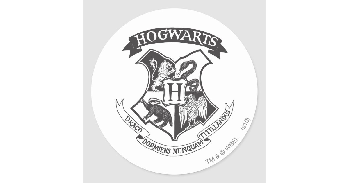 Hogwarts crest 2 classic round sticker zazzle - Hogwarts decal ...