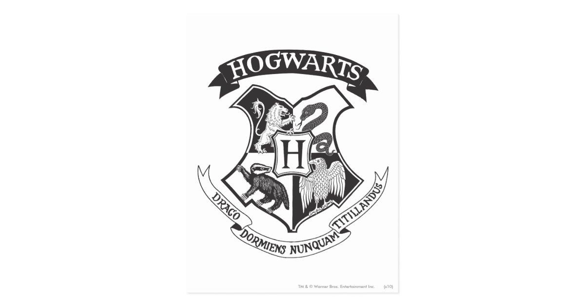 Hogwarts Crest 2 Postcard Zazzle