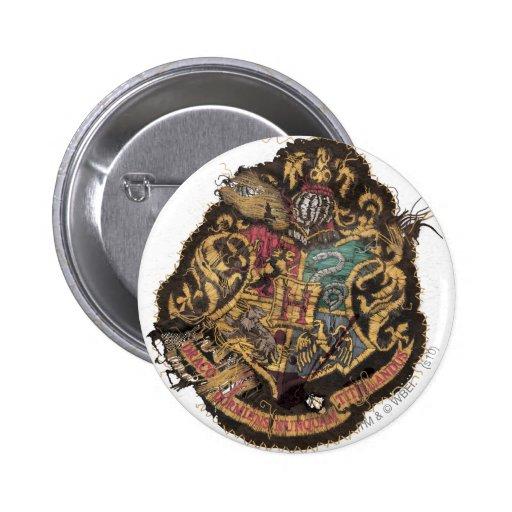 Hogwarts Crest - Destroyed Pinback Button