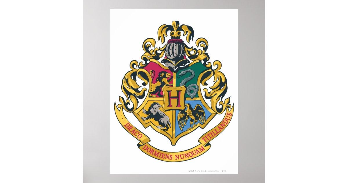 Hogwarts Crest Full Color Poster Zazzle