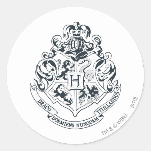 Hogwarts crest classic round sticker zazzle - Hogwarts decal ...