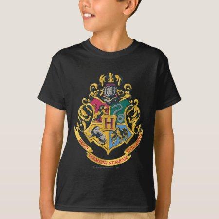 Harry Potter Hogwarts Four Houses Crest Shirt