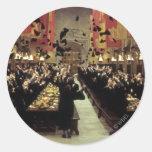 Hogwarts Hall Classic Round Sticker