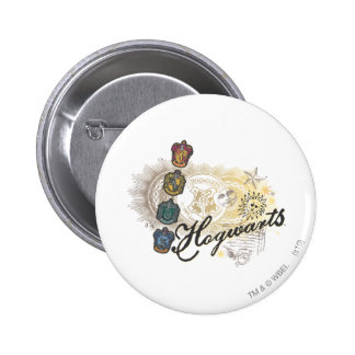 Hogwarts Logo and Professors 2 2 Inch Round Button