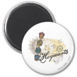 Hogwarts Logo and Professors 2 2 Inch Round Magnet