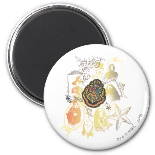 Hogwarts Logo and Professors 2 Inch Round Magnet