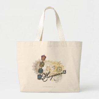 Hogwarts Logo and Professors 2 Large Tote Bag