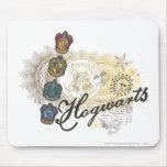 Hogwarts Logo and Professors 2 Mousepad