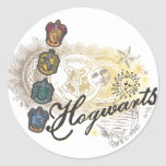 Hogwarts Logo and Professors 2 Round Stickers