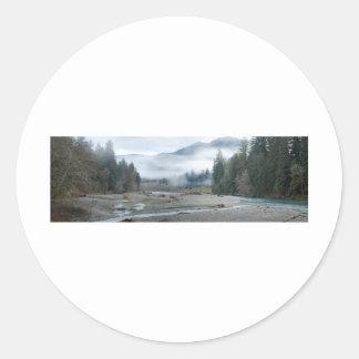 Hoh River Round Sticker