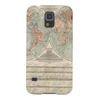 Hohen und Tiefen - Highs and Lows Atlas Map Case For Galaxy S5