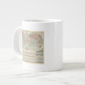 Hohen und Tiefen - Highs and Lows Atlas Map Giant Coffee Mug