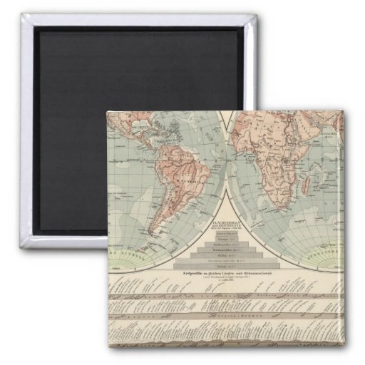 Hohen und Tiefen - Highs and Lows Atlas Map Magnet