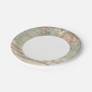 Hohen und Tiefen - Highs and Lows Atlas Map Paper Plate