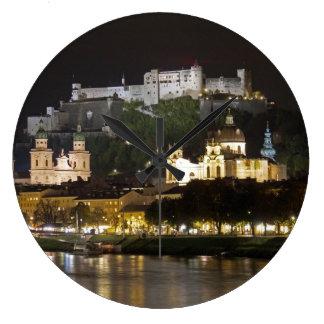Hohensalzburg Castillo-Salzburg Reloj Redondo Grande