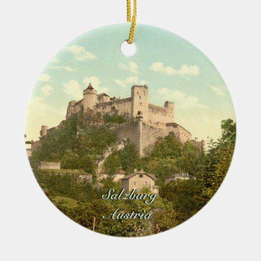 Hohensalzburg Castle II, Salzburg, Austria Christmas Tree Ornaments