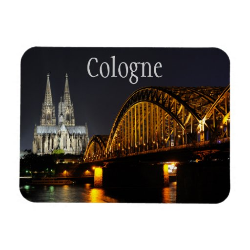 Hohenzollern Bridge, Cologne Cathedral, Germany Rectangle Magnet