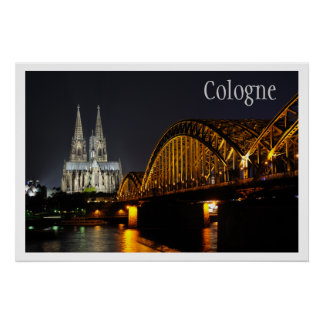 Hohenzollern Bridge, Cologne Cathedral, Rhine Poster
