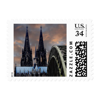 Hohenzollern Cologne Cathedral Church Bridge Stamp