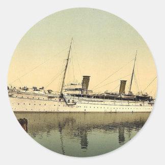 Hohenzollern, leaving the harbor, Venice, Italy vi Classic Round Sticker