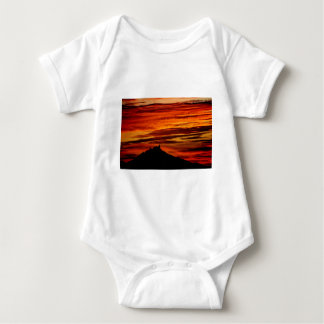 Hohenzollernburg with beautiful evening-red, baby bodysuit
