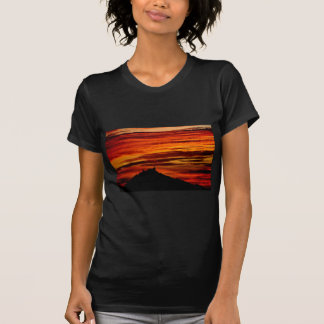 Hohenzollernburg with beautiful evening-red, T-Shirt