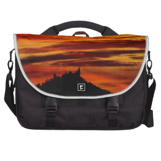 Hohenzollernburg with beautiful evening-red, tende