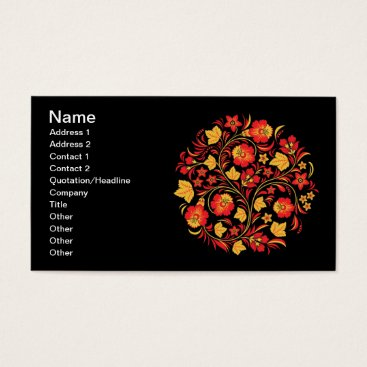 Professional Business Hohloma Red and Yellow Business Card