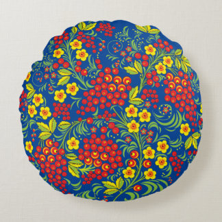 Hohloma Round Pillow