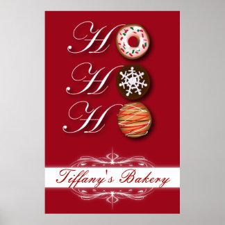 HOHOHO Christmas cookies Donut Doughnut bakery Poster