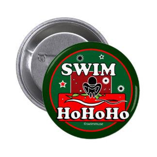 HoHoHo Christmas Swim Button
