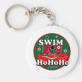 HoHoHo Christmas Swim Keychain