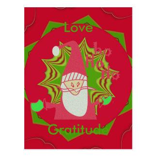 ¡Hohoho de Santa del amor y de la gratitud! postal